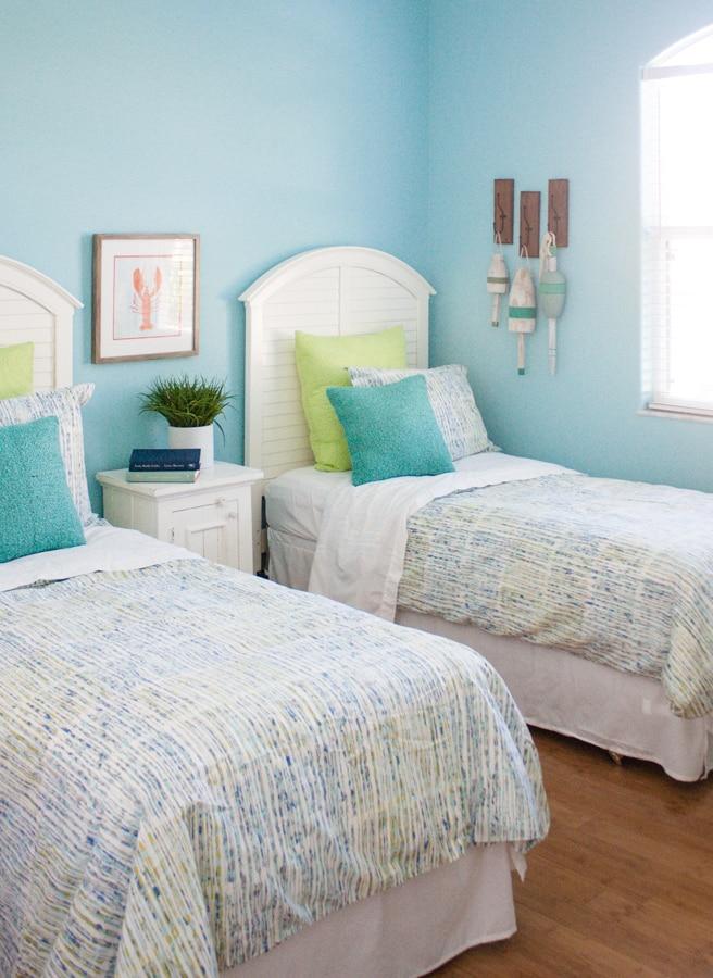 Coastal Kids Guest Room - The Lilypad Cottage