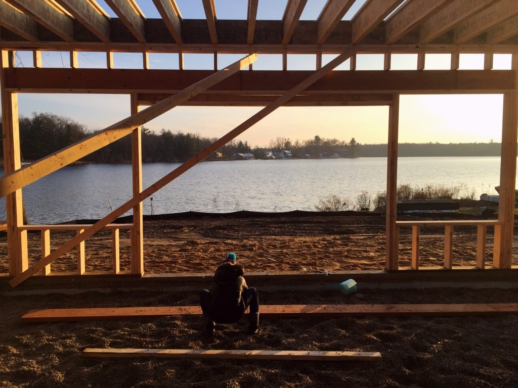 lake house framing