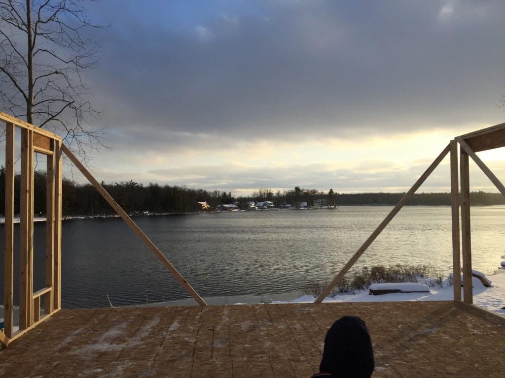 lake house framing