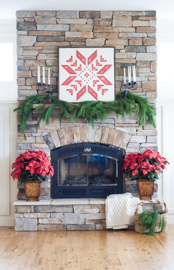 Scandinavian Christmas Decor Mantel