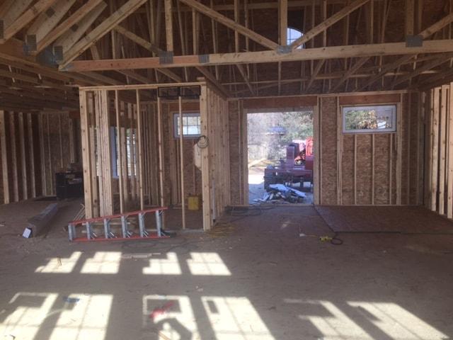lake house building framing