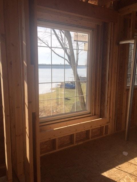 Lake house framing stage