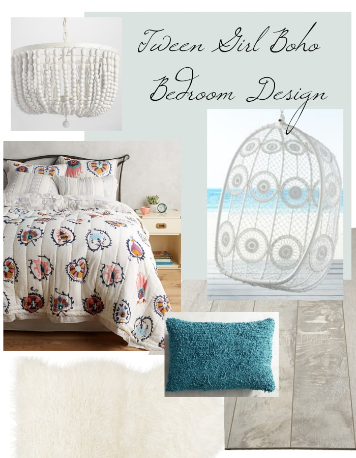 Tween Girl Boho Bedroom Design