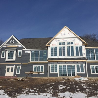 House Update – Siding and drywall