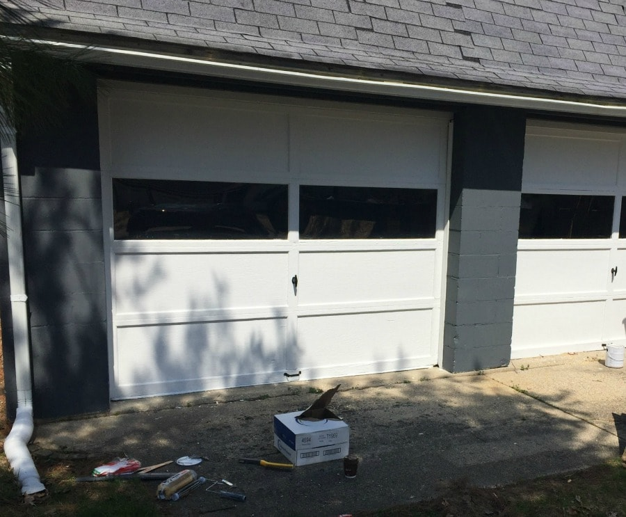 The Garage Doors Themselves Also Got A Fresh Coat Of Paint (after Lots Of  Scraping). This Garage Was Built In 1957 (according To The Carving In The  Cement), ...