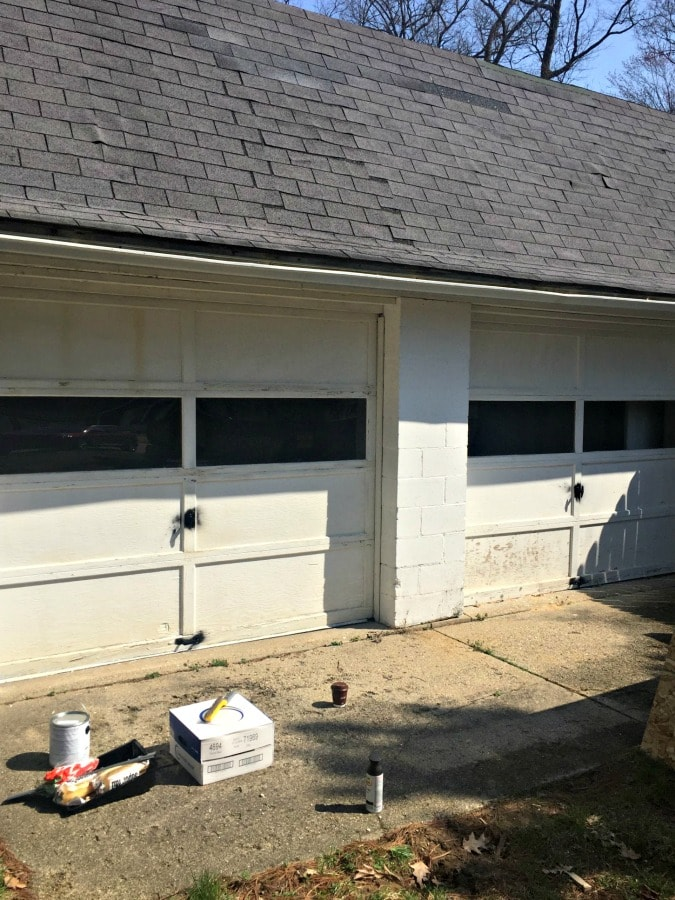 Garage Door Makeover The Lilypad Cottage