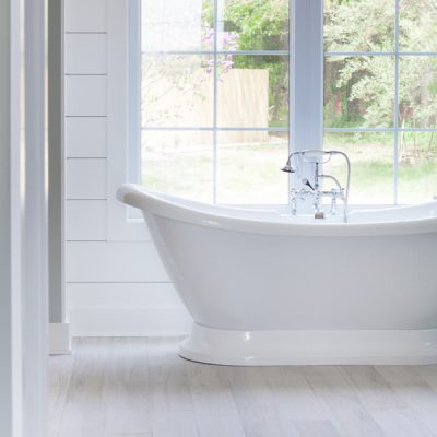 White Washed Faux Wood Tile
