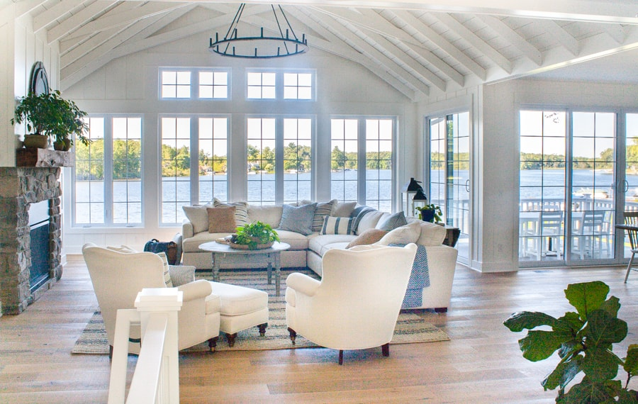Lake House Living Room Decor
