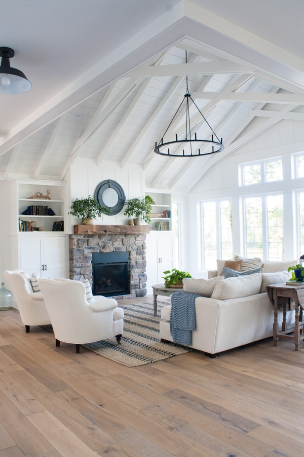 Lake House Living Room Decor - The Lilypad Cottage on