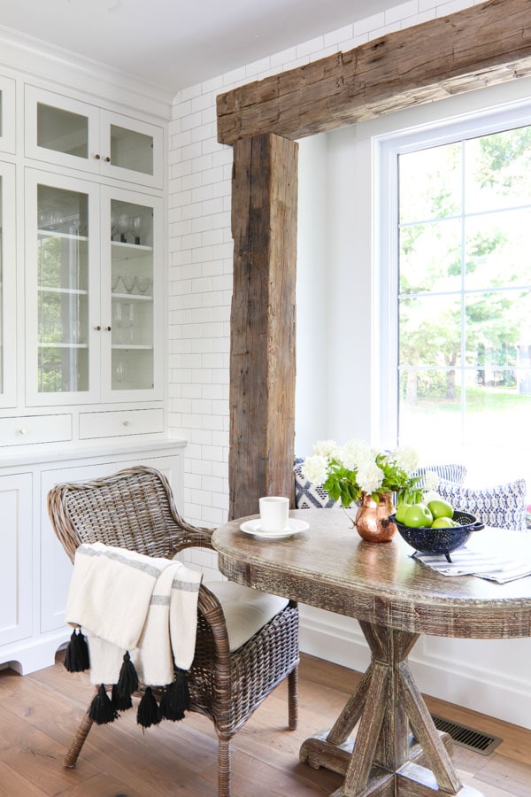 Rustic Beam Breakfast Nook