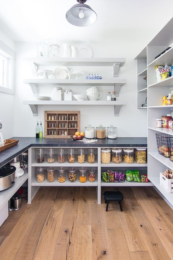 Grey cabinet walk in pantry