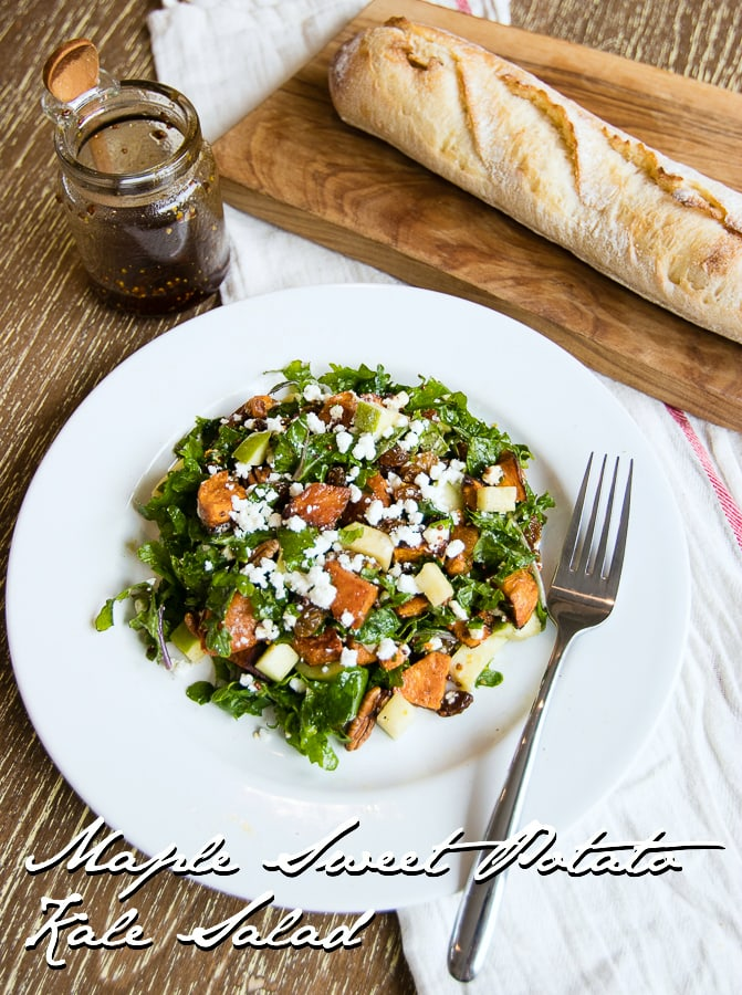 Maple Sweet Potato Kale Salad