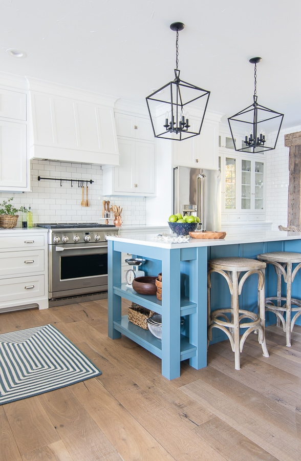 Lake House White Kitchen - The Lilypad Cottage on oak kitchen island ideas, kitchen island with wheels, kitchen pantry storage ideas, kitchen island storage ideas,
