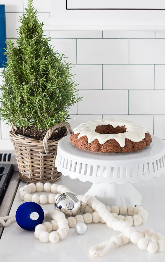White Blue Kitchen Christmas Decor