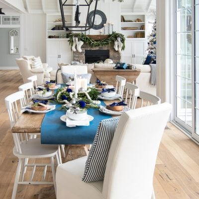 Navy Christmas Tablescape