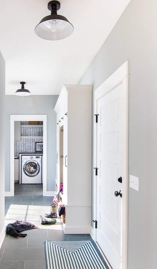 cottage style mudroom slate floor