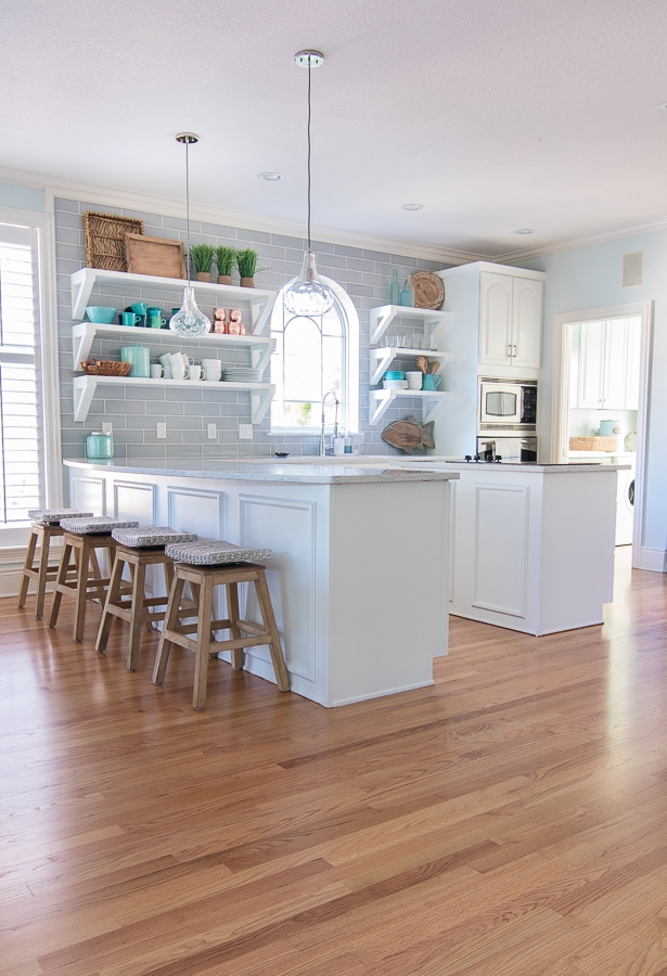 coastal themed kitchen coastal kitchen makeover the lilypad cottage 2291