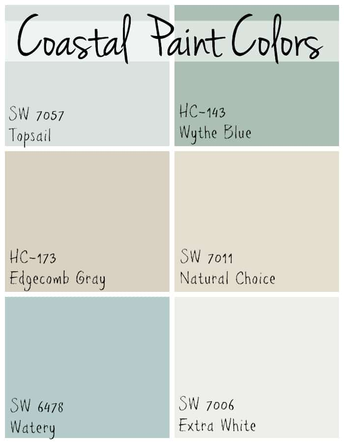 Coastal paint colors the lilypad cottage for Beach house gray paint colors