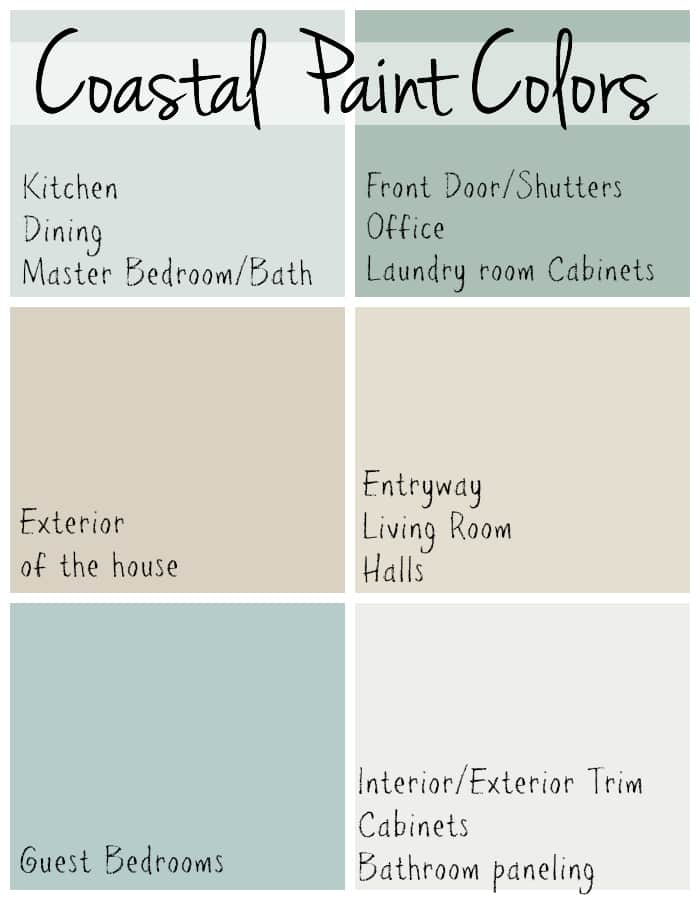 Admirable Coastal Paint Colors The Lilypad Cottage Interior Design Ideas Gentotryabchikinfo