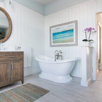 Coastal Master Bathroom Makeover
