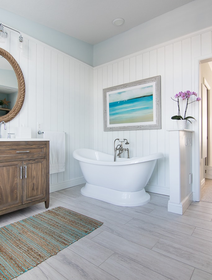 Coastal Master Bathroom Makeover - The Lilypad Cottage