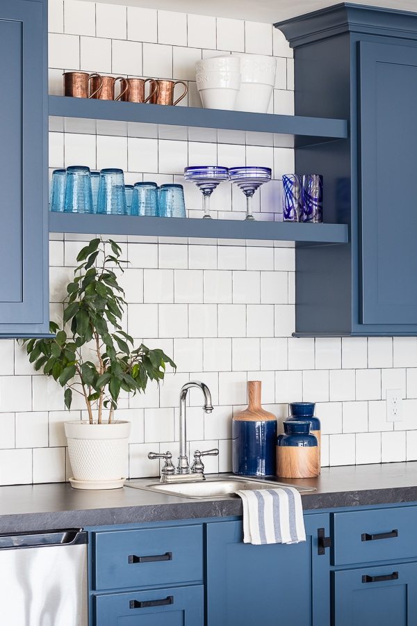 Wet Bar Open shelf ideas