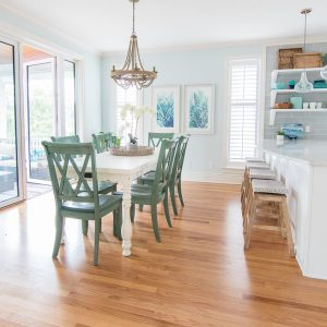 Blue and White Coastal Dining Room