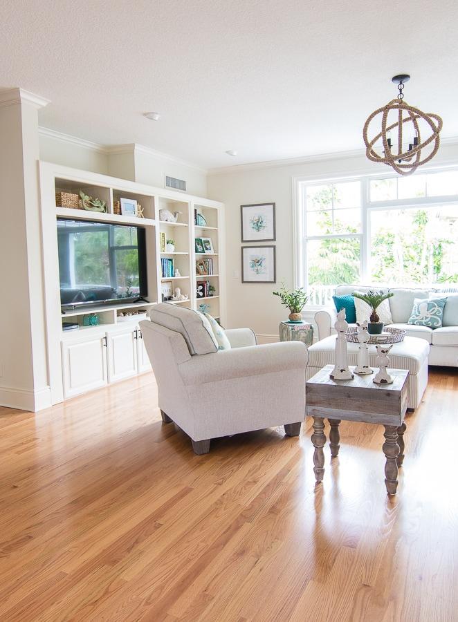 Coastal Living Room Decor