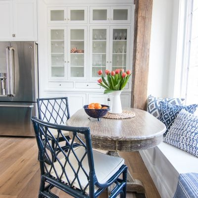 Breakfast Nook Navy Chairs