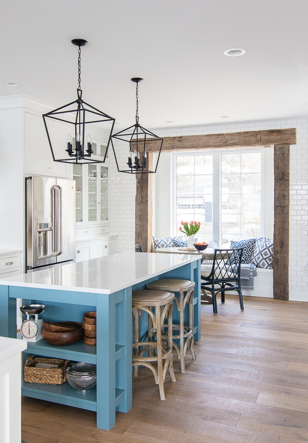 Lake House Kitchen with breakfast nook