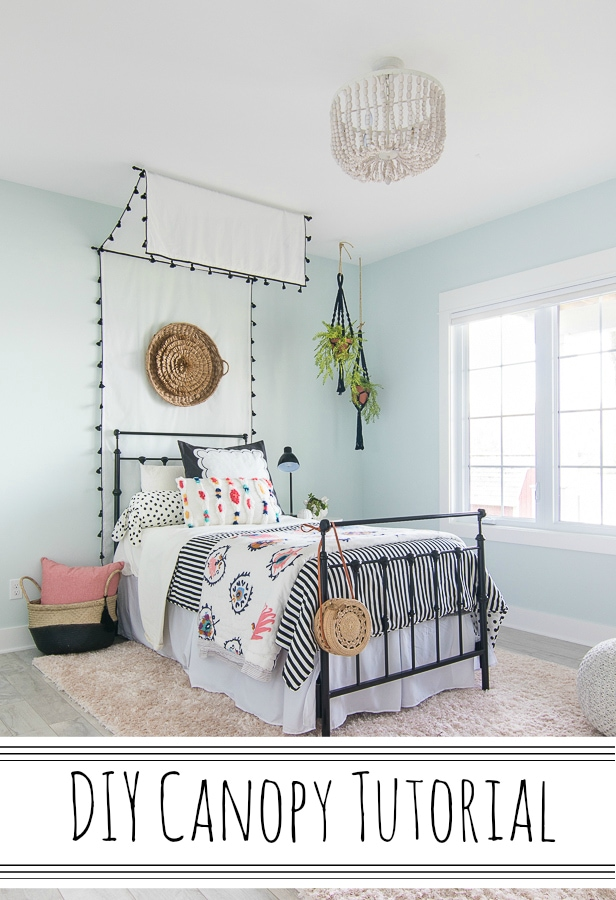 DIY Bed Canopy Tutorial - The Lilypad Cottage