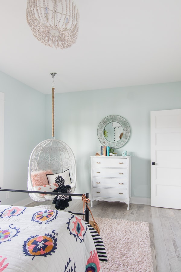 Hanging chair boho girls tween room