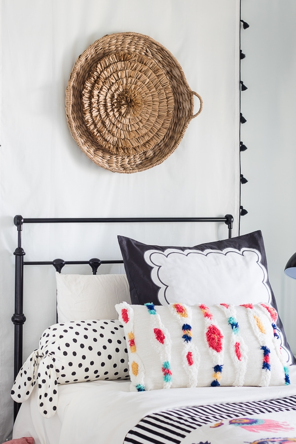 Boho beachy tween girls room