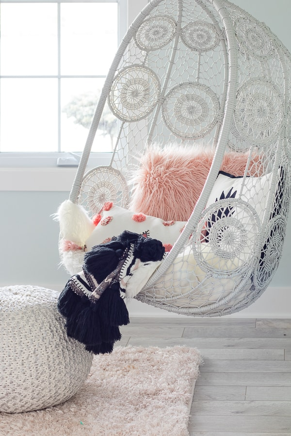 Hanging Chair Tween Girl Boho Bedroom Decor