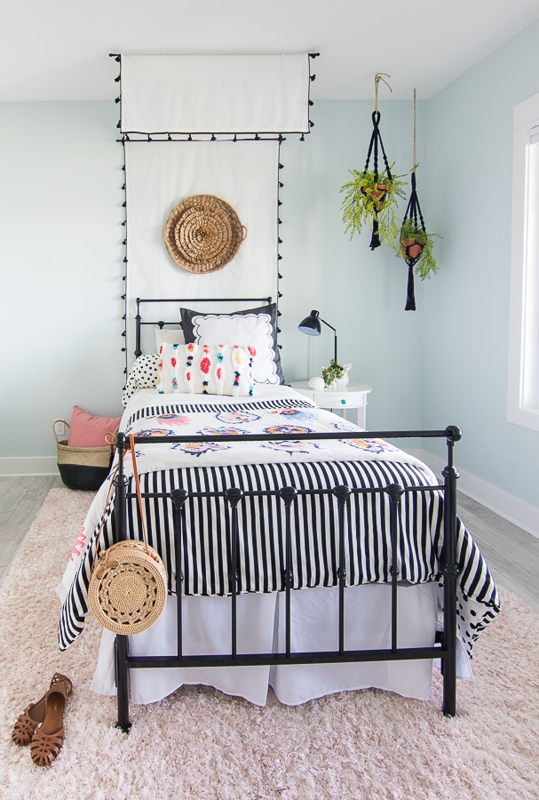 boho canopy girls tween room