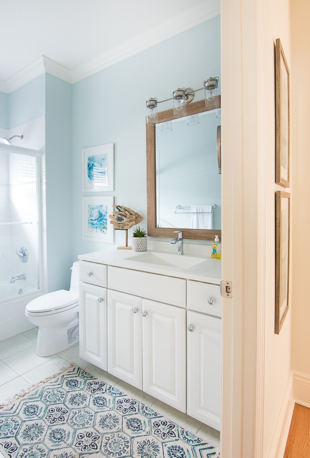 Coastal Bathroom Makeover