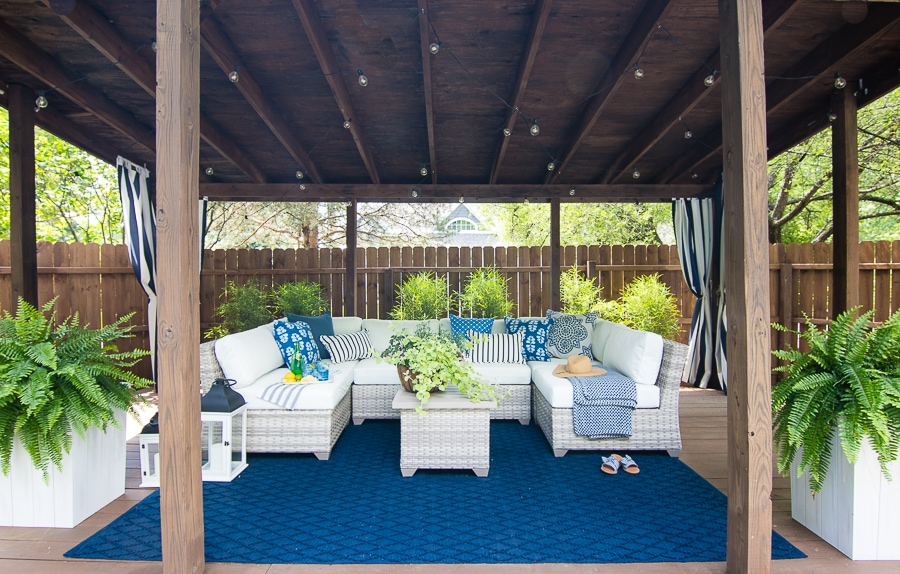 pool cabana sectional outdoor furniture