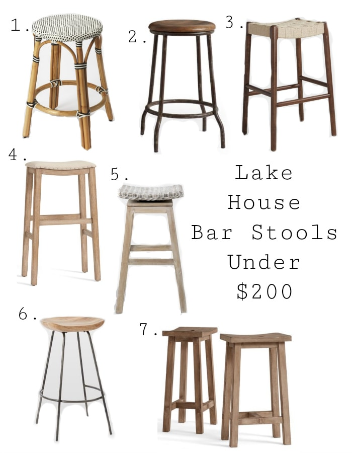 Best Lake House Bar Stools Under $200