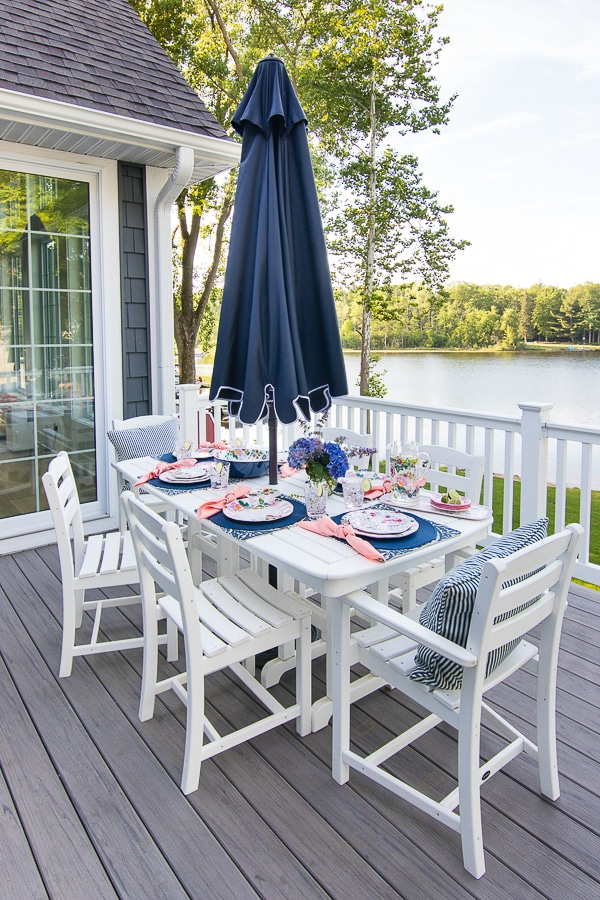 Lakeside dinner party