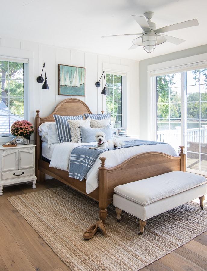 Fall home decor master bedroom lake house