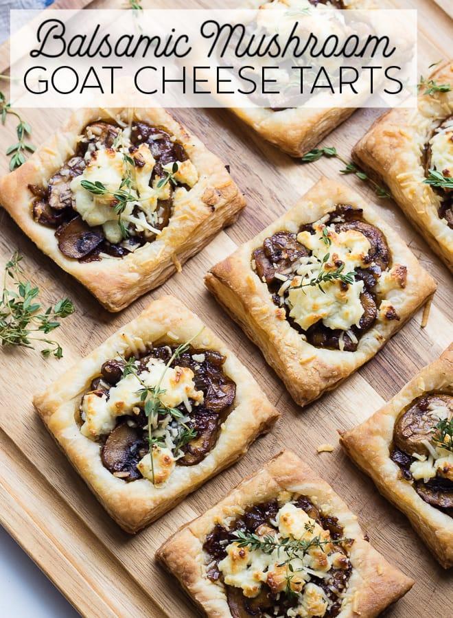 Balsamic Mushroom Goat cheese tart