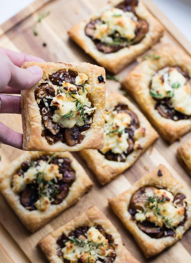 Balsamic Mushroom Goat cheese tarts
