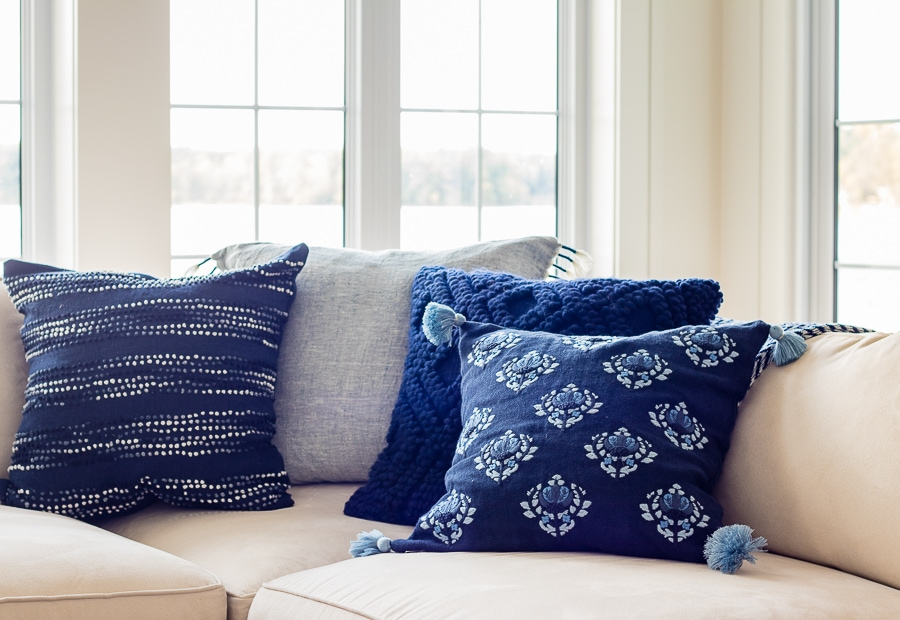 navy and french blue pillows