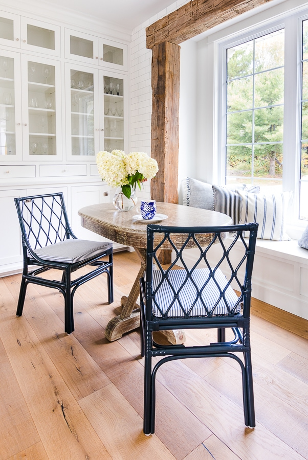 diamond pattern navy chairs