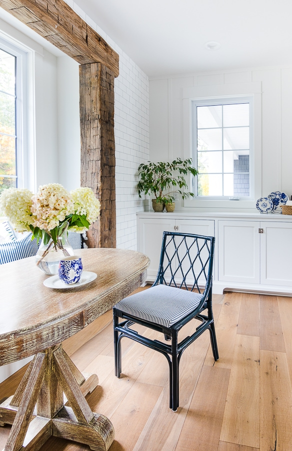 navy breakfast nook chairs
