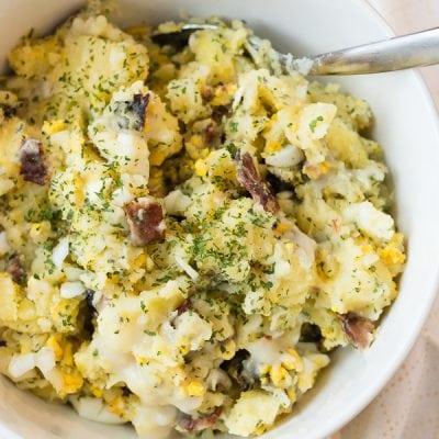 Hot German Potato Salad and My Christmas Menus
