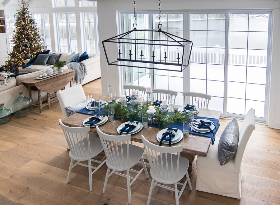 Navy Blue And Silver Table Decorations  from www.thelilypadcottage.com