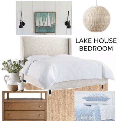 Lake House Master Bedroom Design