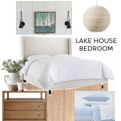 Lake House Master Bedroom Design