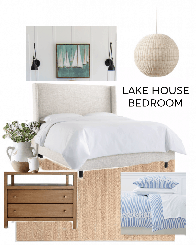 lake house coastal bedroom design